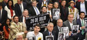 Colombia: con un pedido por la vida de líderes sociales inicia nuevo período legislativo del Congreso