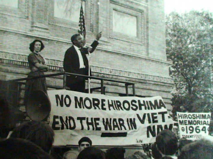 Bayard Rustin, 1964, Hiroshima day, credit: War Resisters League.