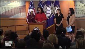 """Our Squad Is Big"": Reps. Ocasio-Cortez, Omar, Tlaib and Pressley Condemn Trump's Racist Attack"