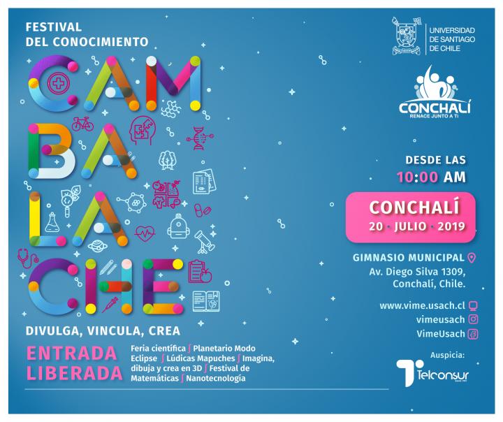 Ciencia, salud y calidad de vida fueron foco del Festival del Conocimiento USACH en Conchalí, Chile