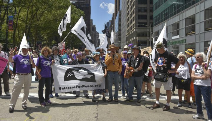 Reclaim Pride NYC 2019 veterans for peace – By Ellen Davidson