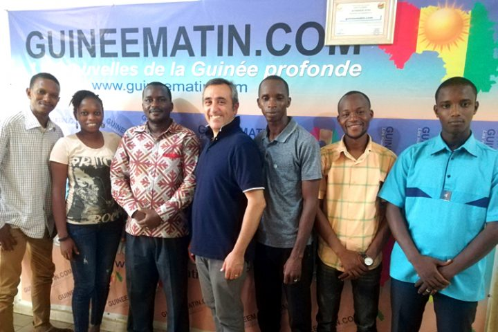 [Conakry] Guineematin et Pressenza, nouveau partenariat pour élargir la construction d'un réseau mondial de médias