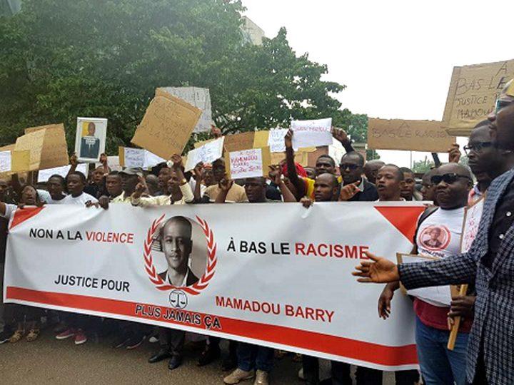 Marche silencieuse : à Conakry, des guinéens demandent justice pour le compatriote BARRY