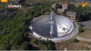 Un dron explora el primer radiotelescopio óptico del mundo