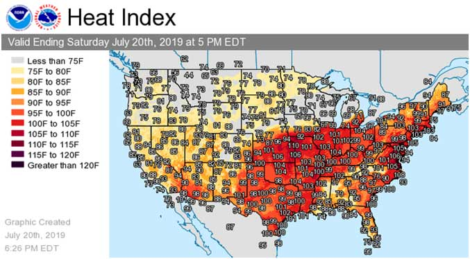 Deadly heat wave grips tens of millions in U.S., 6 deaths as temperature reaches record high