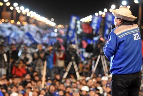 Morales pide apoyo para completar transformaciones en Bolivia: «No estoy aquí por plata, estoy aquí por la patria»