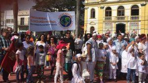 Diffusion de la Marche mondiale à Caucaia do Alto, Cotia, Brésil
