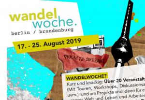 Semana de Cambio (Wandelwoche) 2019 en Berlín y Brandenburgo