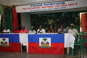 Con llamado a gobierno de transición y Conferencia Nacional Soberana concluye en Haití el primer Foro Patriótico