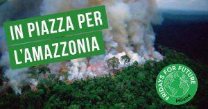 Milano, sciopero per l'Amazzonia al Consolato brasiliano