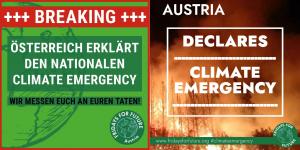 Österreich erklärt nationalen Klimanotstand