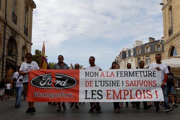 Bordeaux – Acte 45 : Manifestation fermeture usine FORD