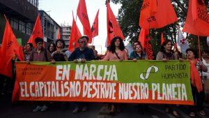 Chile, marcha contra el cambio climático del planeta