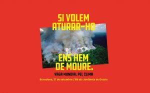 Manifestació per l'emergència climàtica a Barcelona