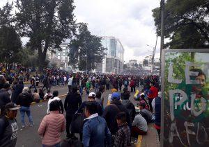 """Διαδηλώσεις στο Κίτο: """"μέχρι να βρεθεί λύση"""""""
