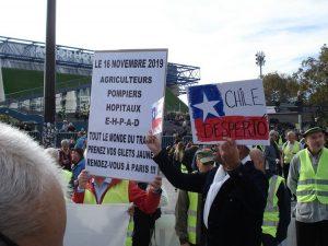 Convergence à Paris. Manifestation des Gilets Jaunes et soutien au peuple chilien