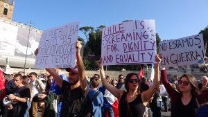 Roma, manifestazione di solidarietà con il popolo cileno
