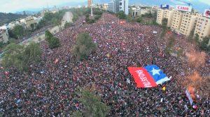 Χιλή: ενάμισι εκατομμύριο άνθρωποι στην plaza Italia στο Σαντιάγο