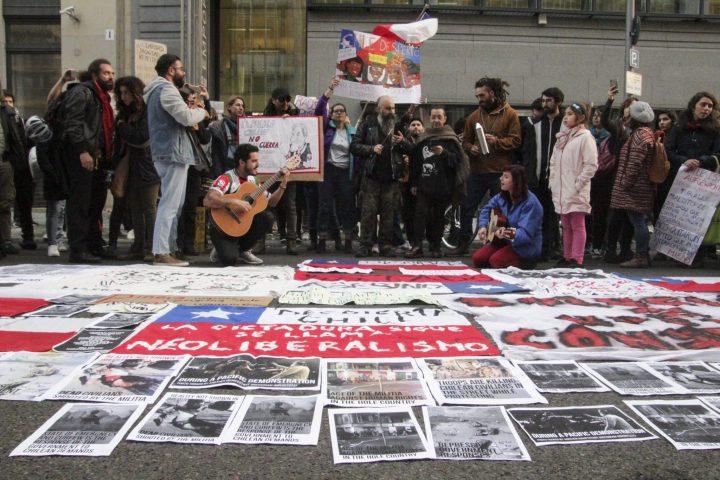 Marcha Mundial por Chile hoy Berlin