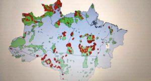 Mapa mostra avanço de queimadas em terras indígenas com incidência mineral na Amazônia