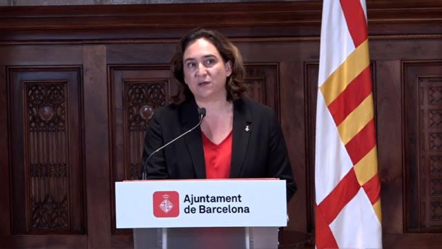 Declaració de l'alcaldessa de Barcelona sobre els actes violents