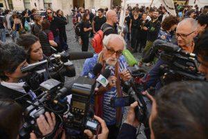 Extinction Rebellion: sciopero della famea Montecitorio