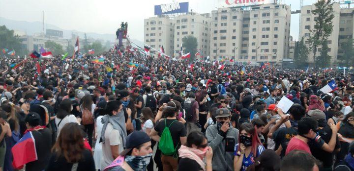 More images of the multitudinous demonstration in Santiago