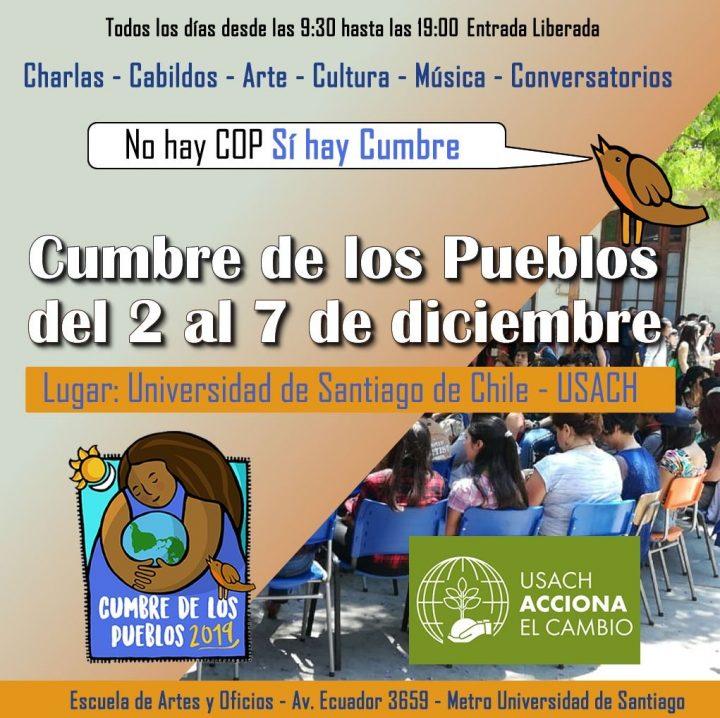 Χιλή: ακυρώθηκε το COP25 αλλά θα γίνει κανονικά η Σύνοδος των Λαών (2-7/12)