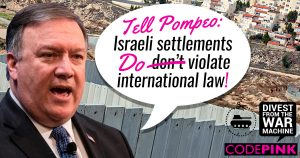 Mike Pompeo: All Israeli settlements are illegal!