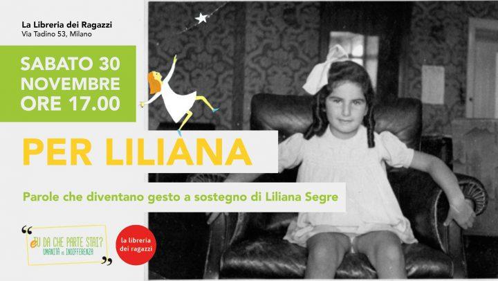 Per Liliana – Evento per bambini a sostegno di Liliana Segre