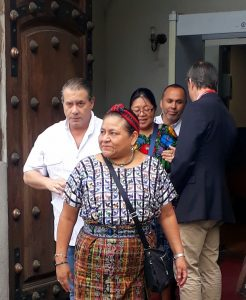 Chile, Rigoberta Menchú's visit due to Human Rights situation.
