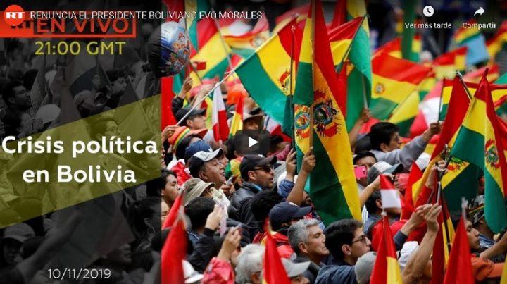 Golpe de Estado en Bolivia: Evo Morales renuncia a la presidencia del país (EN VIVO)