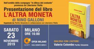 """Presentazione del libro """"L'altra Moneta"""" di Nino Galloni"""