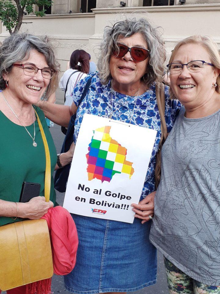 manifestación repudio golpe Bolivia en Cba 018
