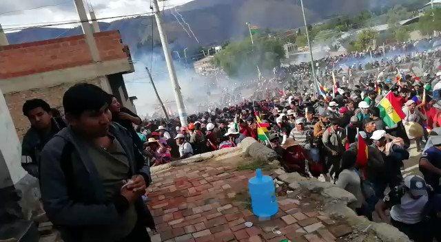 Régimen de facto desata dura represión en Bolivia