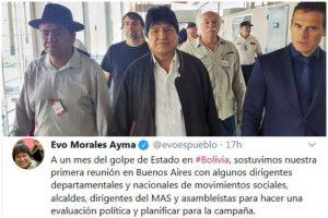 Na Argentina, Evo Morales tece a campanha do MAS para a eleição