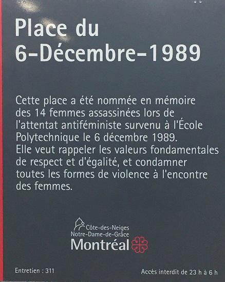 Montréal inaugure une nouvelle plaque de l'attentat antiféministe du 6 décembre 1989