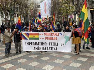 Manifestación de apoyo a Evo Morales en Madrid y petición de renuncia de Añez por 'asesina'