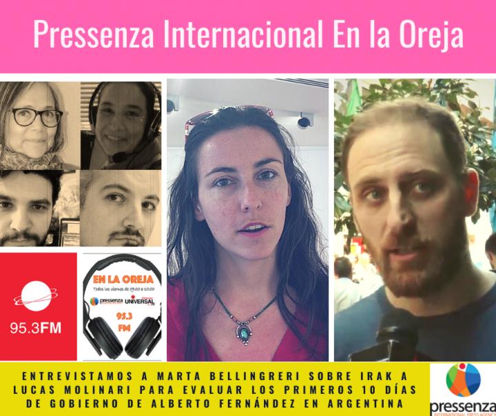 Irak y Argentina en Pressenza Internacional En la Oreja 20-12-2019