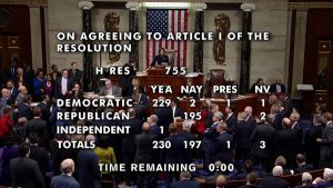 """""""We Have to Hold This President Accountable"""": In Historic Vote, House Impeaches President Trump"""