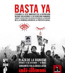 Concerto degli Inti-Illimani, Los Bunkers e altri gruppi musicali in Plaza de la Dignidad a Santiago del Cile