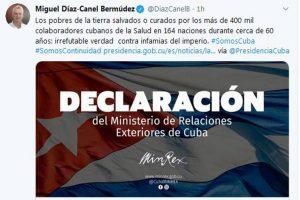 Díaz-Canel: durante quase 60 anos Cuba salvou vidas em 164 países