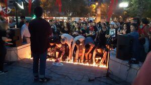 Marcha y velatón por los Derechos Humanos [Chile]