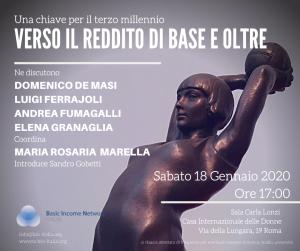 Roma 18 gennaio 2020: Verso il reddito di base e oltre.