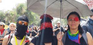 Marche contre la répression à Santiago du Chili