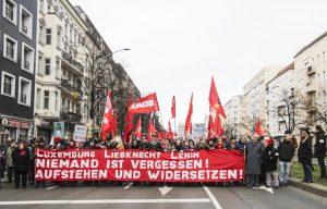 Gedenken an Rosa Luxemburg und Karl Liebknecht in Berlin