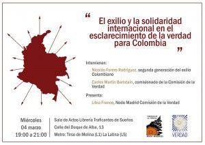 """Rueda de Prensa: """"El exilio y la solidaridad internacional en la construcción de la Verdad para Colombia"""""""