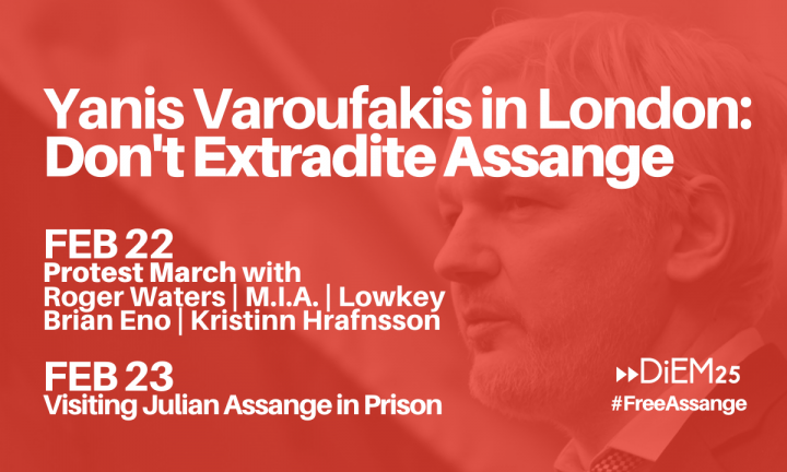 DiEM25 : Non à l'extradition de Julian Assange vers les États-Unis