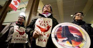 Edmonton, Kanada: Protest gegen das Teck Frontier Ölsandminen-Projekt