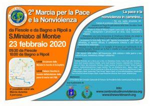 Da Fiesole a San Miniato: percorre il territorio fiorentino la pace e la nonviolenza in cammino